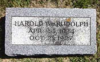 RUDOLPH, HAROLD WILLIAM - Sarpy County, Nebraska | HAROLD WILLIAM RUDOLPH - Nebraska Gravestone Photos