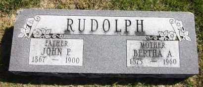 RUDOLPH, BERTHA A. - Sarpy County, Nebraska | BERTHA A. RUDOLPH - Nebraska Gravestone Photos
