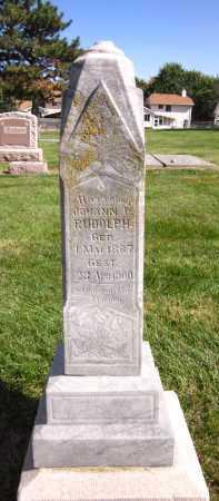 RUDOLPH, JOHANN P. - Sarpy County, Nebraska   JOHANN P. RUDOLPH - Nebraska Gravestone Photos