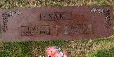 SAK, FRANK B. - Sarpy County, Nebraska | FRANK B. SAK - Nebraska Gravestone Photos