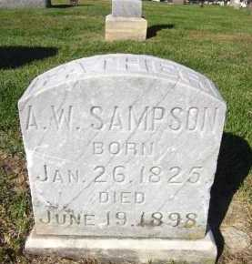 SAMPSON, A. W. - Sarpy County, Nebraska | A. W. SAMPSON - Nebraska Gravestone Photos