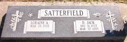 SATTERFIELD, LORAINE A. - Sarpy County, Nebraska | LORAINE A. SATTERFIELD - Nebraska Gravestone Photos