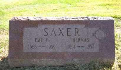 SAXER, EMILIE - Sarpy County, Nebraska   EMILIE SAXER - Nebraska Gravestone Photos