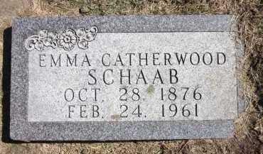 SCHAAB, EMMA - Sarpy County, Nebraska | EMMA SCHAAB - Nebraska Gravestone Photos