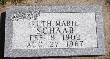SCHAAB, RUTH MARIE - Sarpy County, Nebraska | RUTH MARIE SCHAAB - Nebraska Gravestone Photos