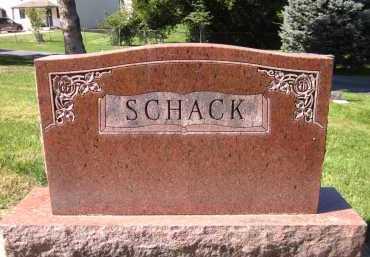 SCHACK, FAMILY - Sarpy County, Nebraska | FAMILY SCHACK - Nebraska Gravestone Photos