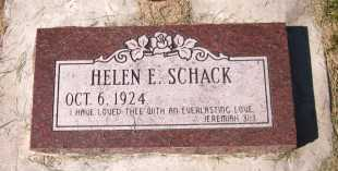 SCHACK, HELEN E. - Sarpy County, Nebraska | HELEN E. SCHACK - Nebraska Gravestone Photos