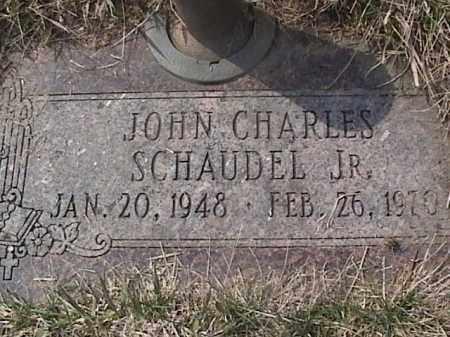 SCHAUDEL, JOHN CHARLES, JR. - Sarpy County, Nebraska | JOHN CHARLES, JR. SCHAUDEL - Nebraska Gravestone Photos