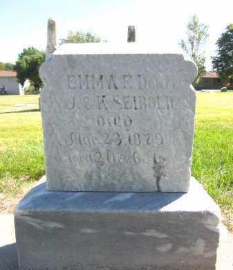 SEIBOLD, EMMA E. - Sarpy County, Nebraska | EMMA E. SEIBOLD - Nebraska Gravestone Photos