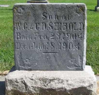 SEIBOLD, EARL E - Sarpy County, Nebraska | EARL E SEIBOLD - Nebraska Gravestone Photos