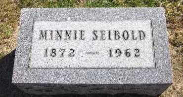 SEIBOLD, MINNIE - Sarpy County, Nebraska | MINNIE SEIBOLD - Nebraska Gravestone Photos