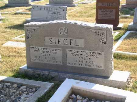 SIEGEL, BELLE - Sarpy County, Nebraska | BELLE SIEGEL - Nebraska Gravestone Photos