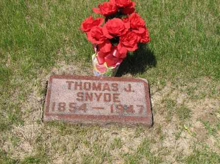 SNYDE, THOMAS J - Sarpy County, Nebraska | THOMAS J SNYDE - Nebraska Gravestone Photos