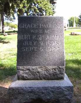 SPEARMAN, GRACE PAULINE - Sarpy County, Nebraska | GRACE PAULINE SPEARMAN - Nebraska Gravestone Photos