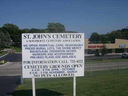 *ST. JOHN'S CEMETERY, SIGN FOR - Sarpy County, Nebraska | SIGN FOR *ST. JOHN'S CEMETERY - Nebraska Gravestone Photos