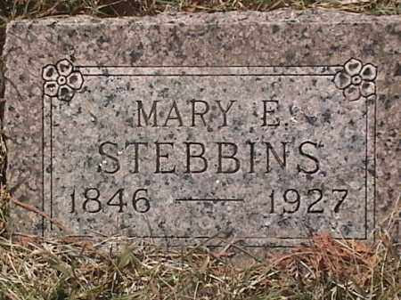 STEBBINS, MARY E. - Sarpy County, Nebraska | MARY E. STEBBINS - Nebraska Gravestone Photos