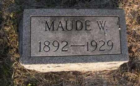 STEVENS, MAUDE W. - Sarpy County, Nebraska | MAUDE W. STEVENS - Nebraska Gravestone Photos