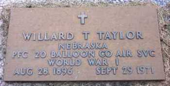 TAYLOR, WILLARD T. - Sarpy County, Nebraska   WILLARD T. TAYLOR - Nebraska Gravestone Photos