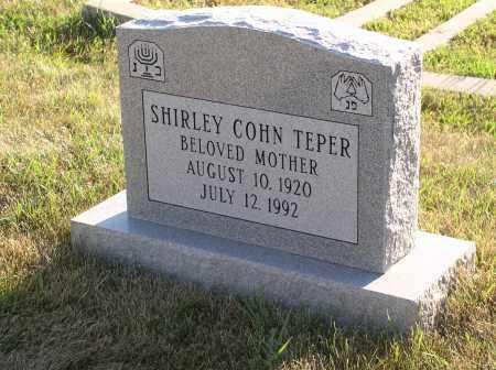 COHN TEPER, SHIRLEY - Sarpy County, Nebraska | SHIRLEY COHN TEPER - Nebraska Gravestone Photos