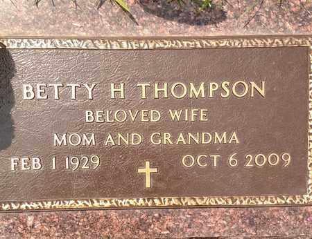 THOMPSON, BETTY - Sarpy County, Nebraska   BETTY THOMPSON - Nebraska Gravestone Photos
