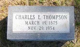 THOMPSON, CHARLES E. - Sarpy County, Nebraska | CHARLES E. THOMPSON - Nebraska Gravestone Photos