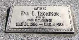 THOMPSON, EVA L. - Sarpy County, Nebraska | EVA L. THOMPSON - Nebraska Gravestone Photos