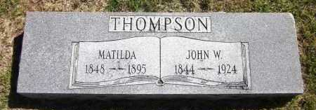 THOMPSON, JOHN W. - Sarpy County, Nebraska | JOHN W. THOMPSON - Nebraska Gravestone Photos