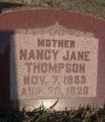 THOMPSON, NANCY JANE - Sarpy County, Nebraska | NANCY JANE THOMPSON - Nebraska Gravestone Photos