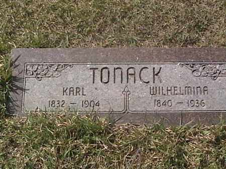 TONACK, KARL - Sarpy County, Nebraska   KARL TONACK - Nebraska Gravestone Photos