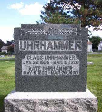 UHRHAMMER, CLAUS - Sarpy County, Nebraska | CLAUS UHRHAMMER - Nebraska Gravestone Photos
