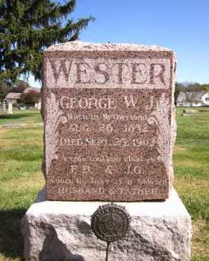 WESTER, GEORGE W. J. - Sarpy County, Nebraska | GEORGE W. J. WESTER - Nebraska Gravestone Photos