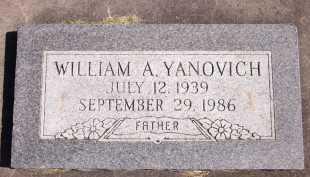 YANOVICH, WILLIAM A. - Sarpy County, Nebraska | WILLIAM A. YANOVICH - Nebraska Gravestone Photos