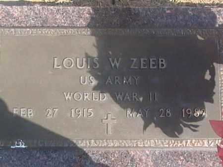 ZEEB, LOUIS W. - Sarpy County, Nebraska   LOUIS W. ZEEB - Nebraska Gravestone Photos