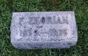 ZEORIAN, F - Sarpy County, Nebraska | F ZEORIAN - Nebraska Gravestone Photos