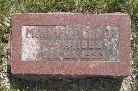 LOCKNER, MINNIE - Saunders County, Nebraska | MINNIE LOCKNER - Nebraska Gravestone Photos