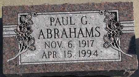 G. ABRAHAMS, PAUL - Saunders County, Nebraska | PAUL G. ABRAHAMS - Nebraska Gravestone Photos