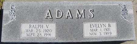 ADAMS, RALPH V. - Saunders County, Nebraska   RALPH V. ADAMS - Nebraska Gravestone Photos