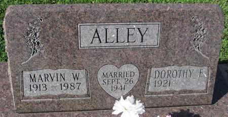 ALLEY, MARVIN W. - Saunders County, Nebraska   MARVIN W. ALLEY - Nebraska Gravestone Photos