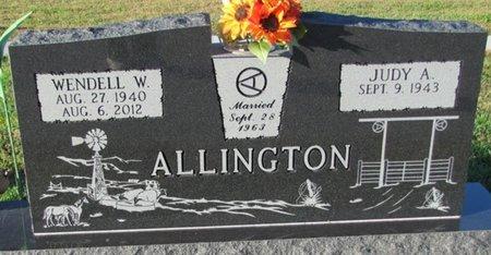 ALLINGTON, WENDELL W. - Saunders County, Nebraska | WENDELL W. ALLINGTON - Nebraska Gravestone Photos