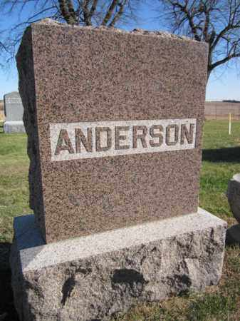 ANDERSON, (FAMILY MONUMENT) - Saunders County, Nebraska | (FAMILY MONUMENT) ANDERSON - Nebraska Gravestone Photos