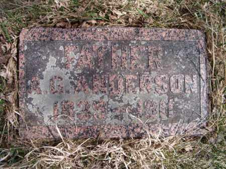 ANDERSON, A G - Saunders County, Nebraska | A G ANDERSON - Nebraska Gravestone Photos