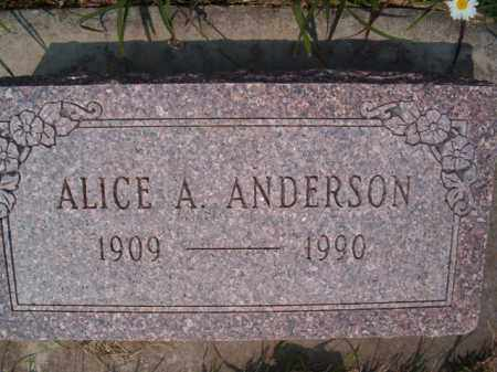 ANDERSON, ALICE A - Saunders County, Nebraska | ALICE A ANDERSON - Nebraska Gravestone Photos