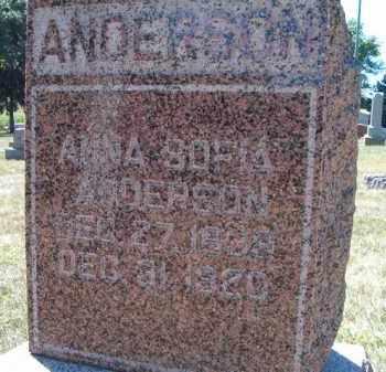 ANDERSON, ANNA SOFIA - Saunders County, Nebraska | ANNA SOFIA ANDERSON - Nebraska Gravestone Photos