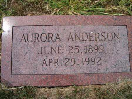 ANDERSON, AURORA - Saunders County, Nebraska | AURORA ANDERSON - Nebraska Gravestone Photos