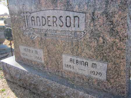 ANDERSON, ALBINA M. - Saunders County, Nebraska | ALBINA M. ANDERSON - Nebraska Gravestone Photos