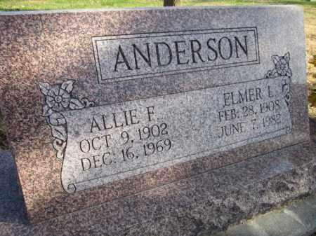 ANDERSON, ALLIE F. - Saunders County, Nebraska | ALLIE F. ANDERSON - Nebraska Gravestone Photos
