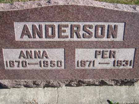 ANDERSON, ANNA - Saunders County, Nebraska | ANNA ANDERSON - Nebraska Gravestone Photos