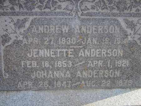 ANDERSON, ANDREW (CLOSE UP) - Saunders County, Nebraska | ANDREW (CLOSE UP) ANDERSON - Nebraska Gravestone Photos