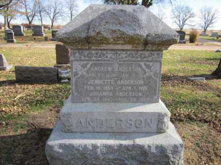 ANDERSON, ANDREW - Saunders County, Nebraska | ANDREW ANDERSON - Nebraska Gravestone Photos