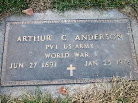 ANDERSON, ARTHUR C. (MILITARY MARKER) - Saunders County, Nebraska | ARTHUR C. (MILITARY MARKER) ANDERSON - Nebraska Gravestone Photos